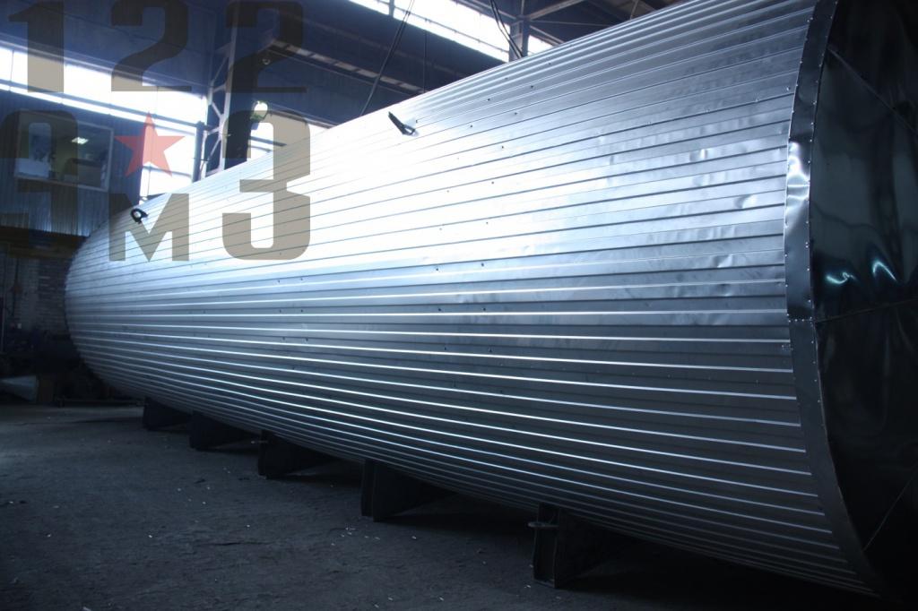 Горизонтальный резервуар с теплоизоляцией